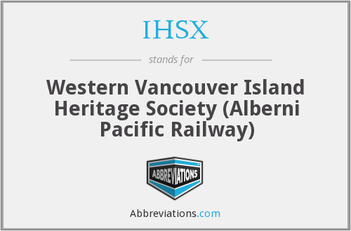 IHSX - Western Vancouver Island Heritage Society (Alberni Pacific Railway)