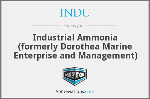 INDU - Industrial Ammonia (formerly Dorothea Marine Enterprise and Management)