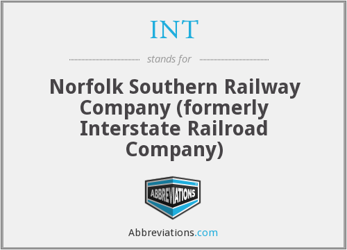 INT - Norfolk Southern Railway Company (formerly Interstate Railroad Company)