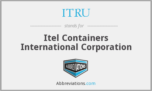 ITRU - Itel Containers International Corporation