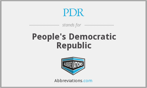 PDR - People's Democratic Republic