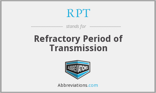 RPT - Refractory Period of Transmission