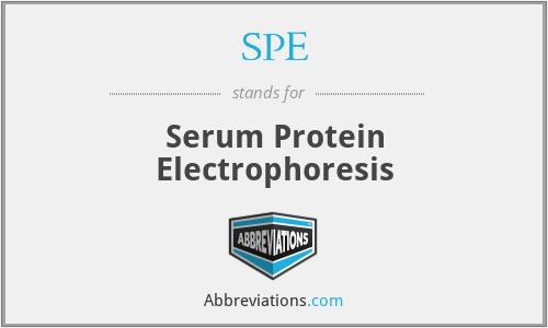 SPE - Serum Protein Electrophoresis