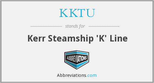 KKTU - Kerr Steamship 'K' Line