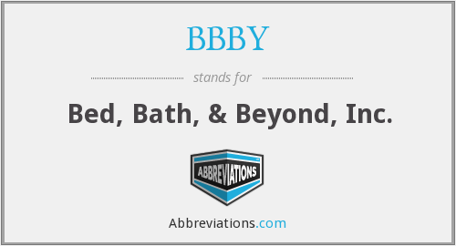What does BBBY stand for?