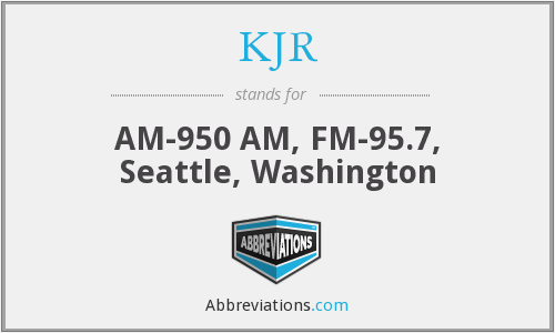 What does KJR stand for?
