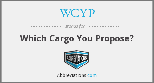 WCYP - Which Cargo You Propose?