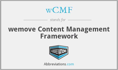 wCMF - wemove Content Management Framework