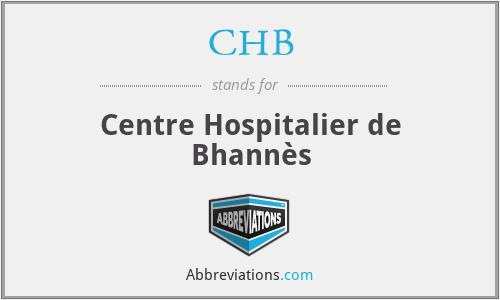 CHB - Centre Hospitalier de Bhannès