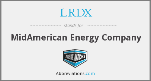 LRDX - MidAmerican Energy Company