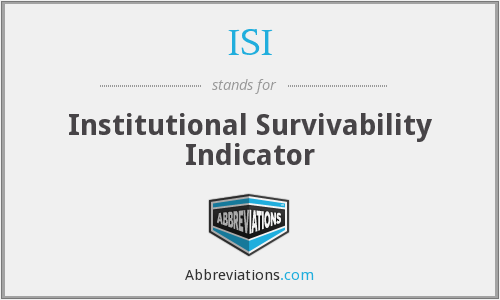 ISI - Institutional Survivability Indicator