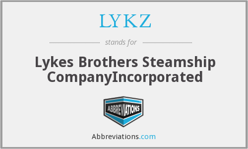 LYKZ - Lykes Brothers Steamship CompanyIncorporated