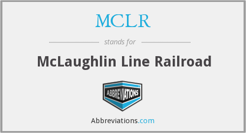 What does MCLR stand for?
