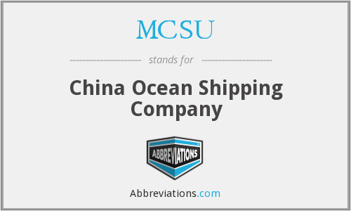 MCSU - China Ocean Shipping Company