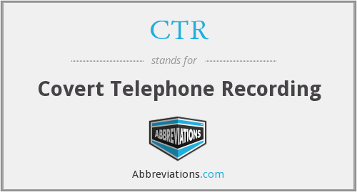 CTR - Covert Telephone Recording