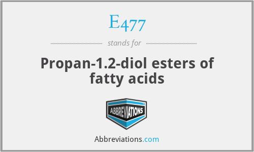 E477 - Propan-1.2-diol esters of fatty acids