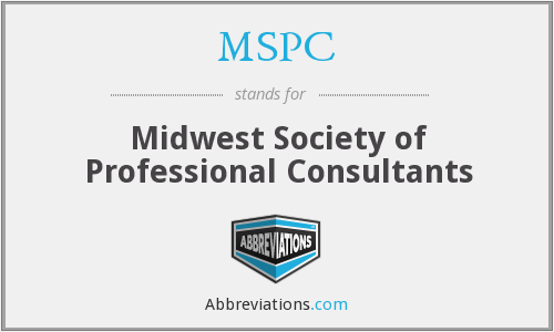 MSPC - Midwest Society of Professional Consultants