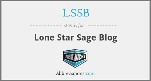 LSSB - Lone Star Sage Blog