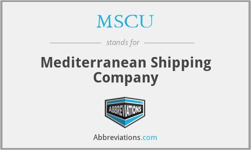 MSCU - Mediterranean Shipping Company