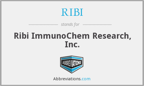 RIBI - Ribi ImmunoChem Research, Inc.