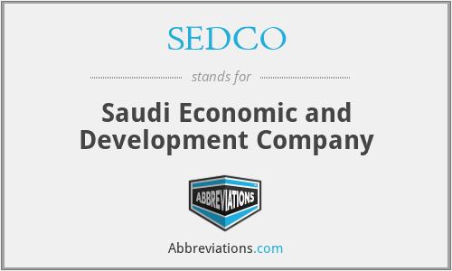 SEDCO - Saudi Economic and Development Company