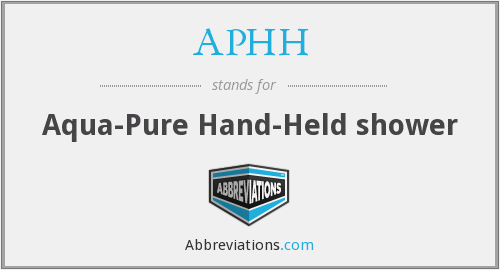 APHH - Aqua-Pure Hand-Held shower
