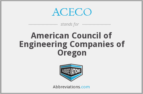 ACECO - American Council of Engineering Companies of Oregon