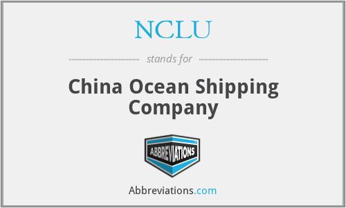 NCLU - China Ocean Shipping Company