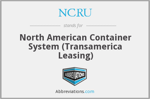 NCRU - North American Container System (Transamerica Leasing)