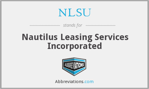 What does NLSU stand for?