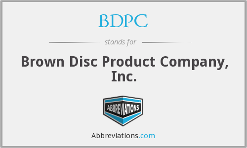 What does BDPC stand for?