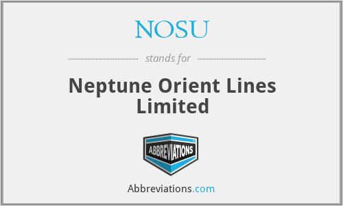 NOSU - Neptune Orient Lines Limited