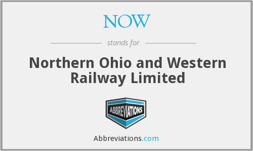 NOW - Northern Ohio and Western Railway Limited
