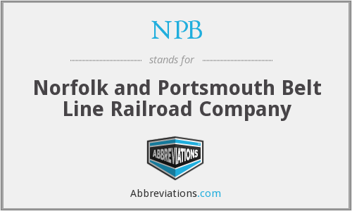 NPB - Norfolk and Portsmouth Belt Line Railroad Company