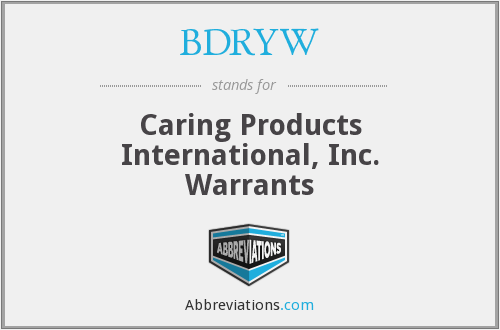 What does BDRYW stand for?