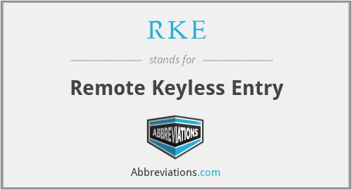 RKE - Remote Keyless Entry