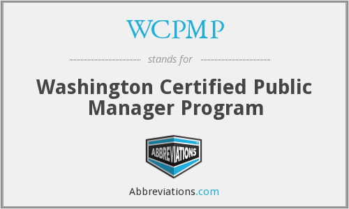 What does WCPMP stand for?