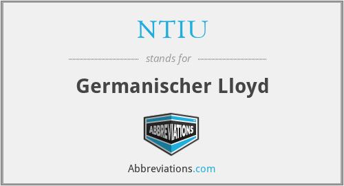 NTIU - Germanischer Lloyd