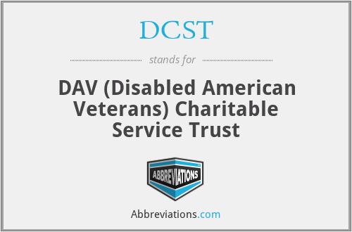DCST - DAV (Disabled American Veterans) Charitable Service Trust