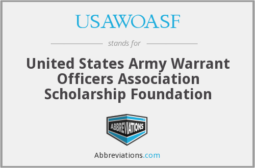 USAWOASF - United States Army Warrant Officers Association Scholarship Foundation