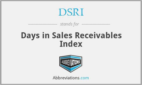 DSRI - Days in Sales Receivables Index