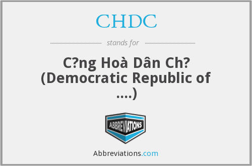 CHDC - C?ng Hoà Dân Ch? (Democratic Republic of ....)