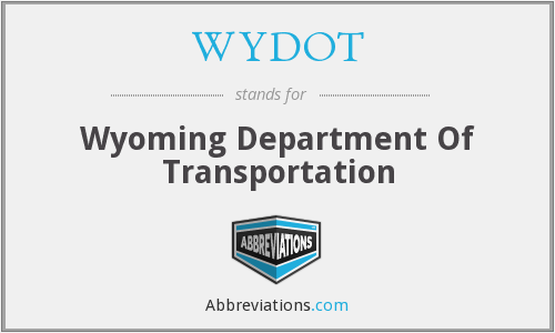 What does WYDOT stand for?