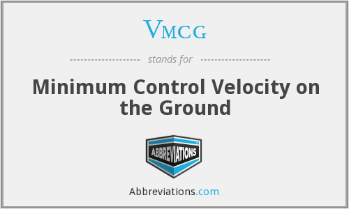 Vmcg - Minimum Control Velocity on the Ground