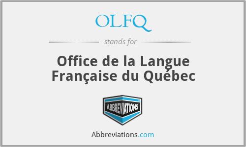 OLFQ - Office de la Langue Française du Québec