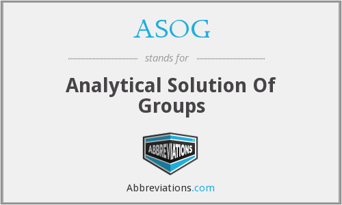 ASOG - Analytical Solution Of Groups