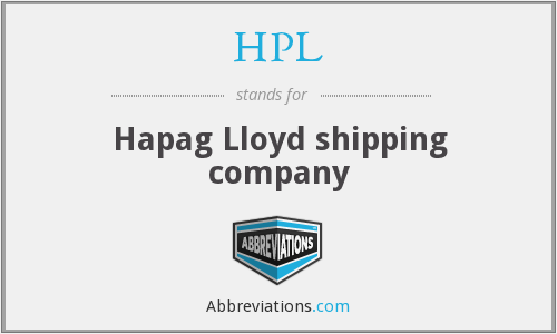 HPL - Hapag Lloyd shipping company