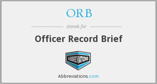 ORB - Officer Record Brief