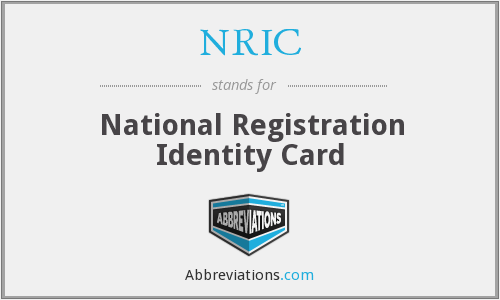 NRIC - National Registration Identity Card