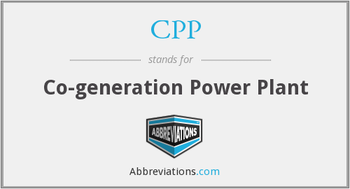 CPP - Co-generation Power Plant